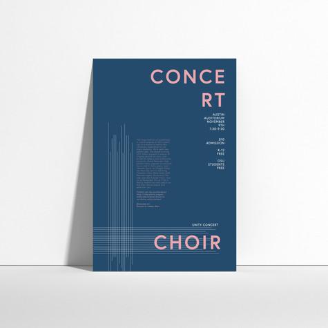 Choir Concert Poster