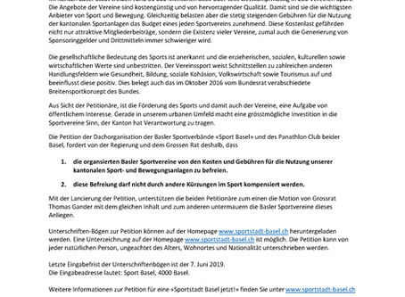 Medienmitteilung Petition