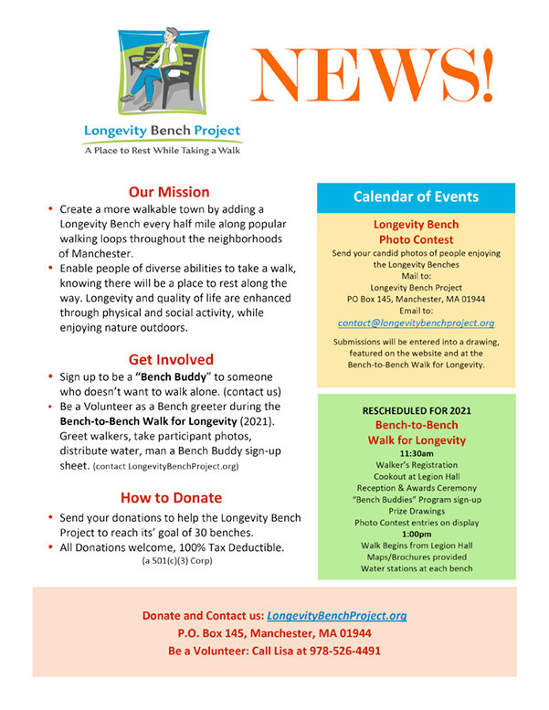 Longevity Bench Project Newsletter
