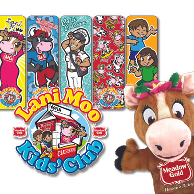 Lani Moo Kids' Club graphics for Meadow Gold Dairies