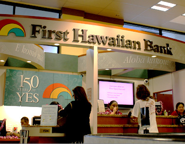 Signage and graphics for in-store branch of First Hawaiian Bank