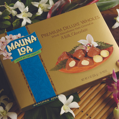 Packaging design for Mauna Loa Macadamias