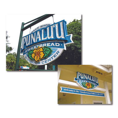 Signage for Punaluu Bake Shop