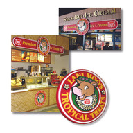 Ice cream concession signage for Meadow Gold Dairies
