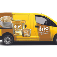 Van graphics for Brio Ice Cream