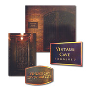 Signage and graphics for Vintage Cave