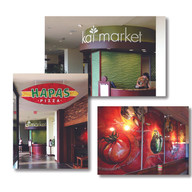 Restaurant signage and graphics for Sheraton Waikiki Hotel