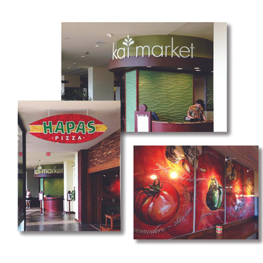 Restaurant signage and graphics for Sheraton Waikiki Hotel