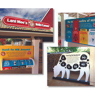 Exhibit signage and interactive display design for Meadow Gold Dairies at Honolulu Zoo