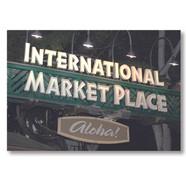 Identity signage for International Market Place Shopping Center
