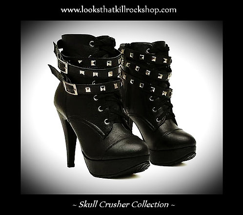 Hot n Sexy Skull Crusher Spiked High Heel Stage Boots!