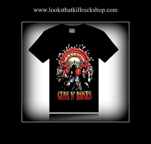 """New"" Guns and Roses 3-D Rock T Shirt"