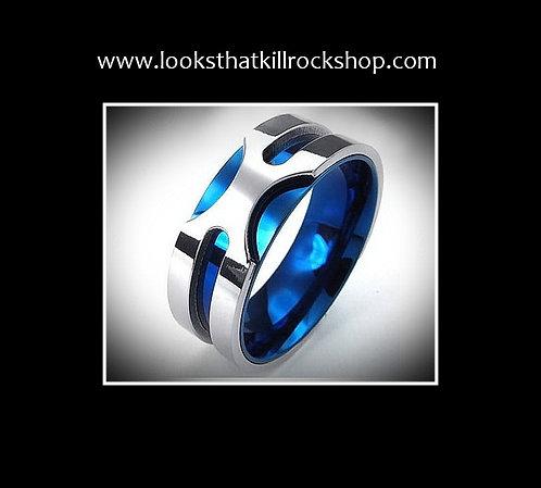 Titanium Blue Lighting Collection Ring