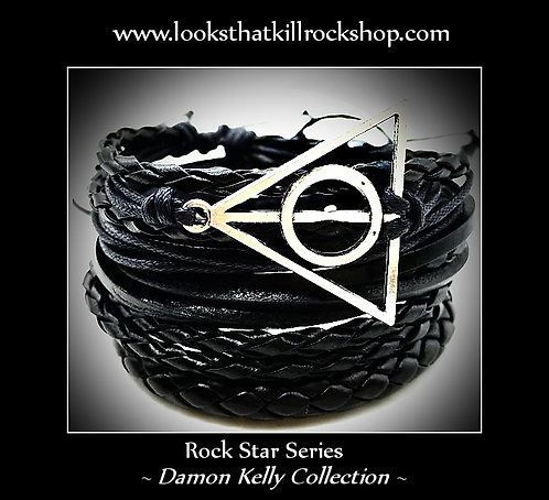 Rock Star Love N' Revenge Logo Combo Bracelet