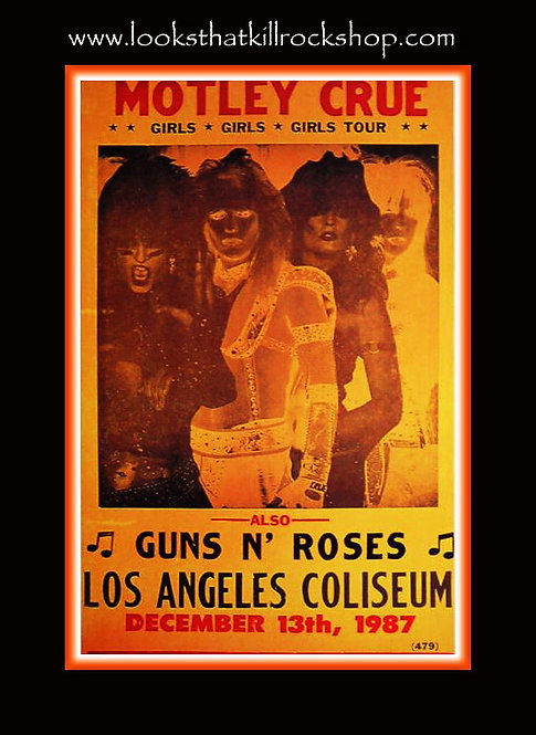 Vintage Motley Crue / Guns n Roses Poster