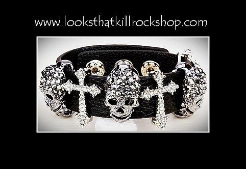 """Skull Crusher Series """"Skull Fire"""" Bracelet"""