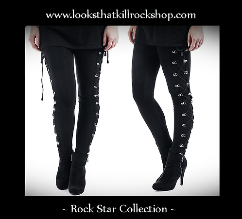 Women Rock Star Collection Laced Stage Pants