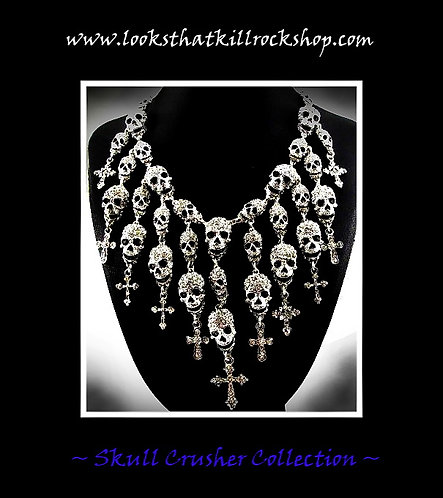 "Skull Crusher Series ""Skull Fire"" Necklace"