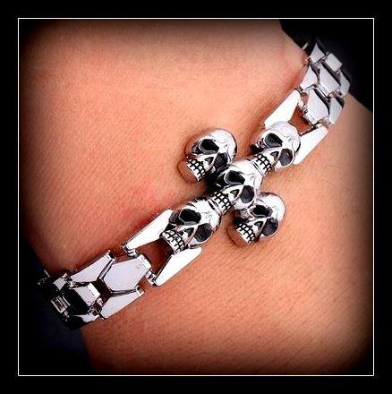 Skull Crusher Series Chrome Bracelet