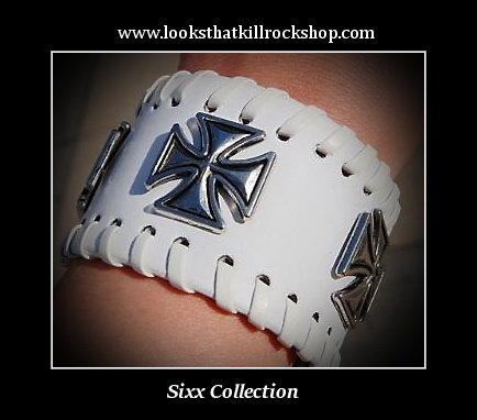 Sixx Collection Rocker Chics Celtic Cross Leather Band