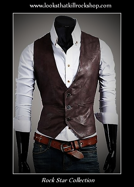 Rock Star Collection Leather Stage Vest