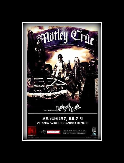 "Motley Crue ""Final Farewell Tour"" Poster on Canvas"