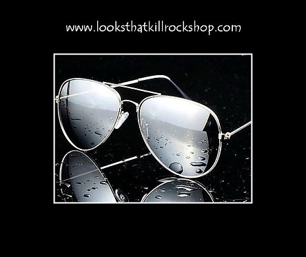 Rocking Retro Aviators Sunglasses