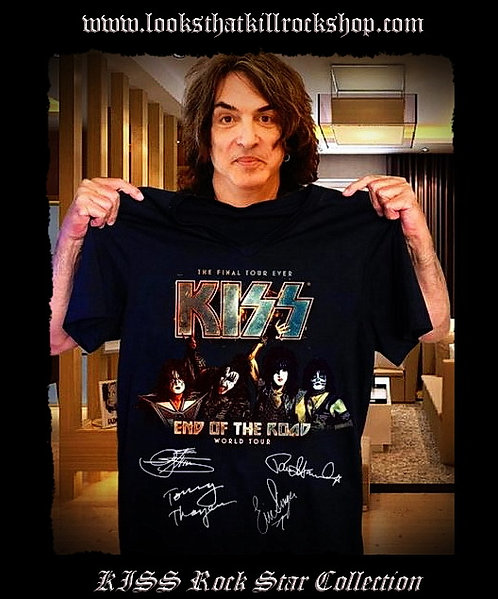 KISS End of Road Final Tour Concert T Shirts