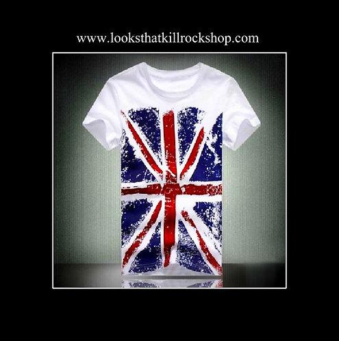 Hot Def Leppard Union Jack Rock T