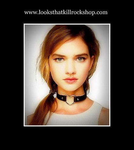 "Hot Rocking ""Steelheart"" Leather Choker"