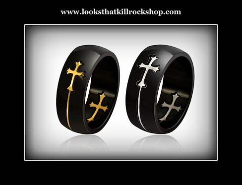"""Our Gorgeous Warrant """"Heaven""""  Cross Ring"""