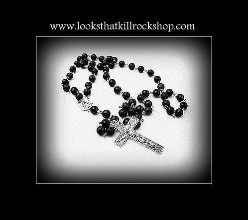 """HOTT~""""Nikki Sixx"""" Style Rosary Necklace"""