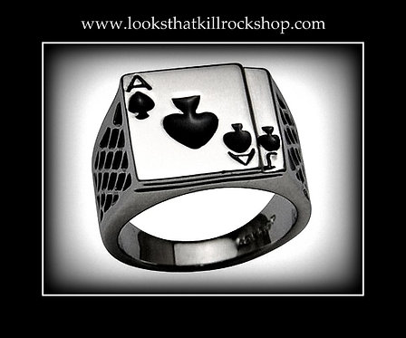 "Motorhead ""Ace of Spades"" Skull Crusher Ring"
