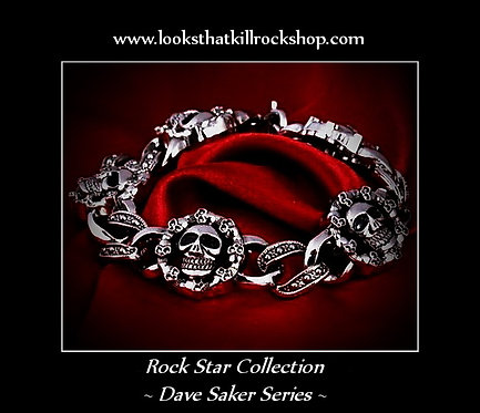 Dave Saker Rock Star Collection Killer Skull Crusher Bracelet
