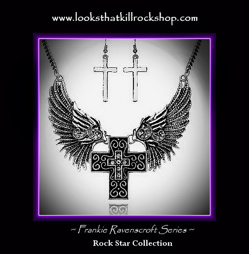 Womens Frankie Ravenscroft Series Winged Angel Necklace