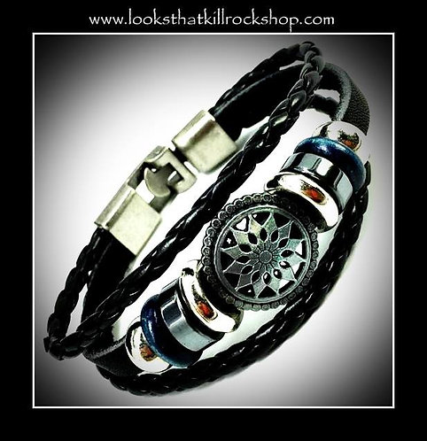Sunburst slide bracelet