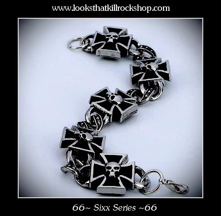 Hot Sixx Series Skull n Cross Stage Bracelet
