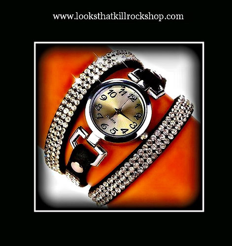 Fire Storm Womens Wrap Around Glam Watch