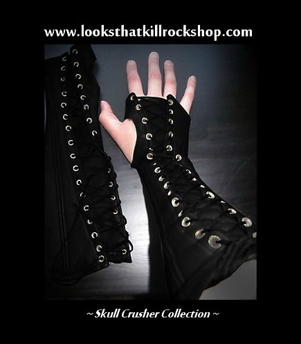 Skull Crusher Gothic Laced Arm Bands Stage Wear
