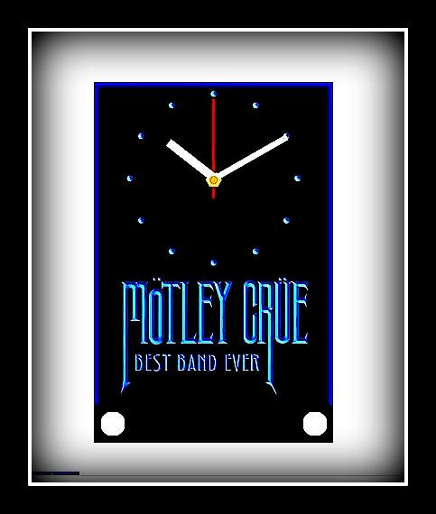 """Motley Crue"" 3-D Desk Clock (Blue)"