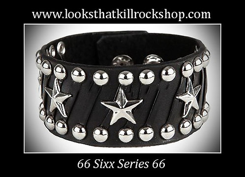 Sixx Series Star Collection Braided Leather Band