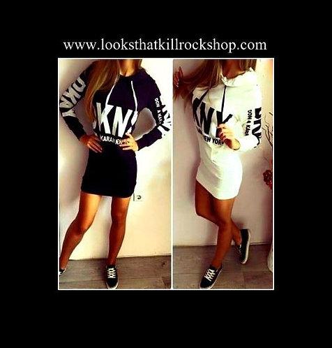 Hot Ladies Bodycon Hoody Dress