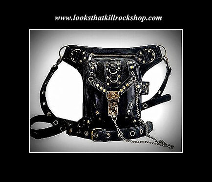 Killer Leather and Metal Holster Bag