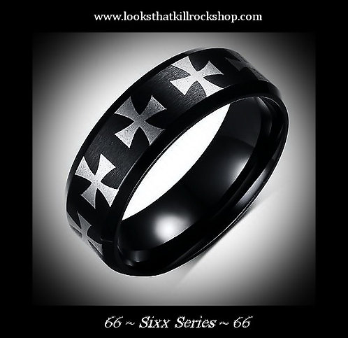 Sixx Series Gun Metal 316L SS Wedding Band!