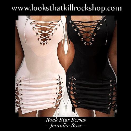 Hot Jennifer Rose Rock Star Series Laced Stage Dress