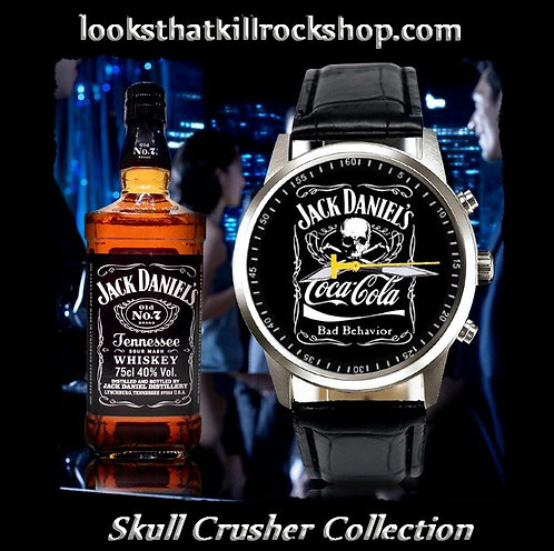 "Skull Crusher Limited Edition Jack Daniels "" Bad Behavior"" Watch"