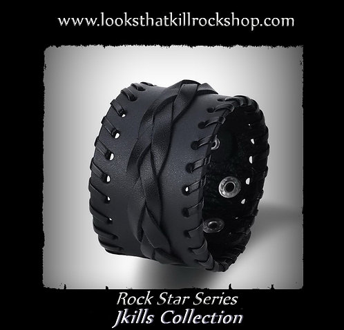 Rock Star Series Jkills Collection Braided Leather Cuff