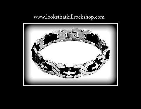 "Stainless Steel ""Madam X"" Bracelet"