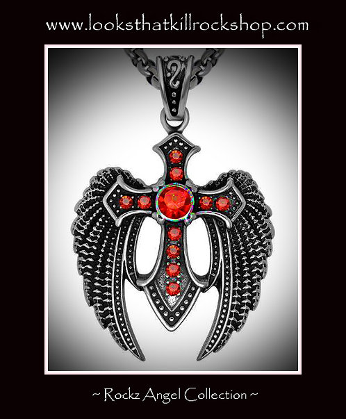 Rock Star Collect Angel Cross Necklace