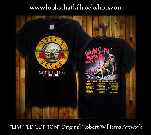 """LIMITED EDITION"" GnR Concert T w/ Original ""Robert Williams"" Artwork"
